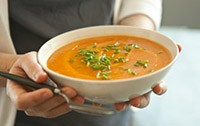 Bowl of Carrot Ginger Soup
